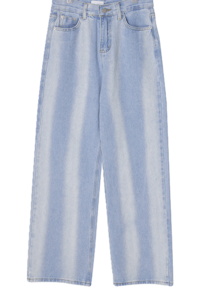 Bliss line Faded wide denim trousers