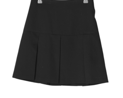 Deming banding pleated mini skirt