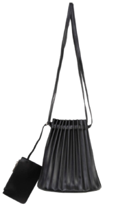 Cann pleated folding two-way shoulder bag