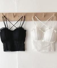 Daily Lace Bra Top 2color