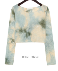 Tie-Dye Pattern Cropped T-Shirt