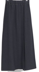 front slit jersey skirt (3colors)
