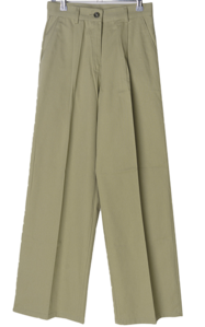 Moroning pintuck wide cotton trousers