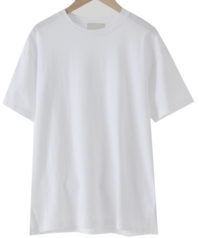 Latte Simple Short-sleeved T-shirt