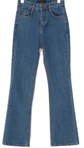 Jenneu retro Flared denim pants