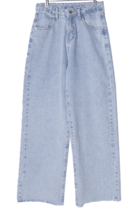 Ison straight-wide denim trousers