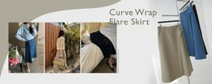 MMMM# Exclusive Order/Same Day Shipping Curve Wrap Flare Skirt