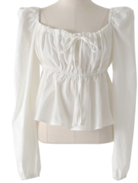 Daphne Wrinkle Cotton Blouse