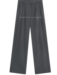 Wide Leg Pleat Detail Slacks