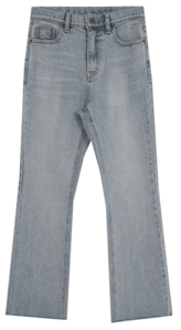 Rita Light Blue Flared Pants-Secret Banding/Semi Flared