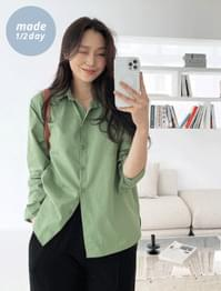 Tone Loose-fit loose fit cotton shirt