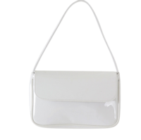 Enamel color flap shoulder bag