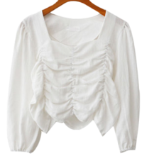 Blanc Square Blouse
