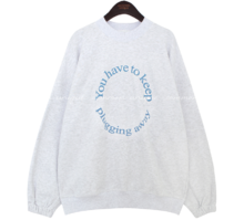 Crew Neck Printed Sweatshirt