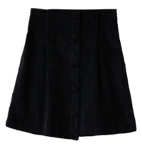 Golden Pin Tuck Skirt