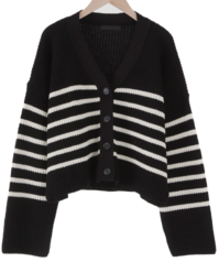Winnie striped crop cardigan