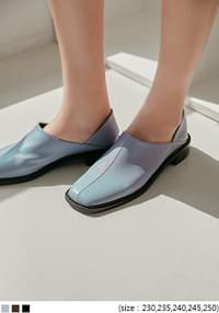Stitching Accent Square Toe Loafers