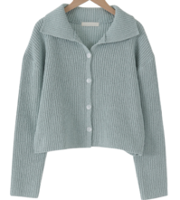 Unique cropped Ribbed cardigan