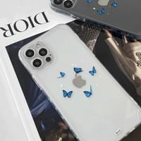 Butterfly Blue Butterfly Bumper Full Cover iPhone Case