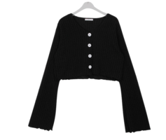 Knitwear paper fence cropped cardigan