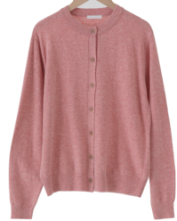 Topping Cashmere Round Cardigan
