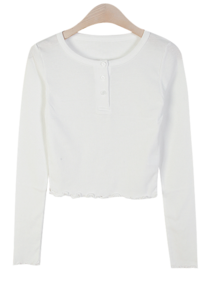 Ani Button Ribbed T