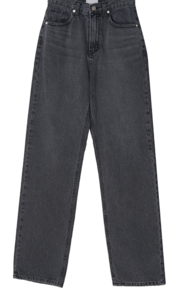 Ketch Black Denim Wide Denim Pants