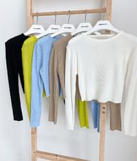 ESSAYBasic Crop Ribbed Knit Top