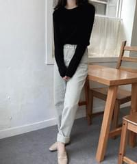 With Yeori Fit Basic Ribbed Knitwear