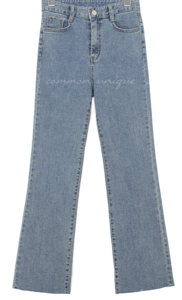 Raw Hem Straight Jeans