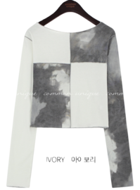Patchwork Cropped T-Shirt