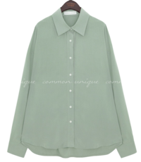 Loose Fit Extended Sleeve Blouse WITH CELEBRITY _ SEO JIHYE