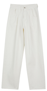 Story wide cotton trousers