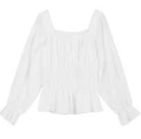 Baker square ruched blouse