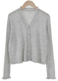 Party Ruffle Knitwear Cardigan
