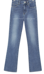 Whisker Wash Cropped Bootcut Jeans