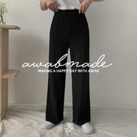 Soft wide banding slacks for each height item (2size/4type: up to ver140cm to ver.170cm)