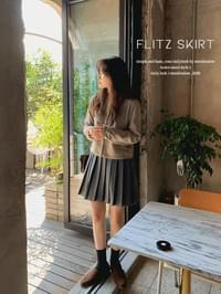 Only pleated mini skirt - 4color