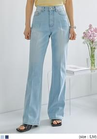 Washed Accent Bootcut Jeans
