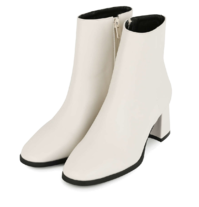 Moving middle heel ankle boots
