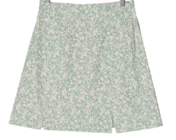 Bunny flower split mini skirt