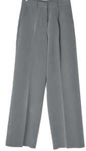 Malio buckle pintuck wide slacks