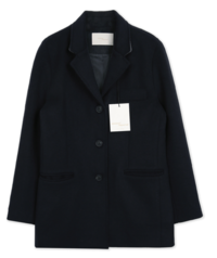 MMMM#Exclusive order/Same-day delivery Stan collar classic fit wool jacket