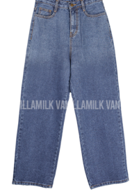 Gradient wide denim trousers