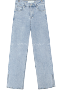 Slit Hem Straight Loose Jeans