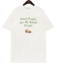 KIND BEAR PRINTING COTTON 1/2 T