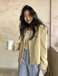 Propose One-Button Short Jacket