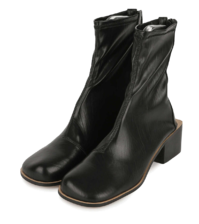 Atoll Fleece-lined middle heel ankle boots