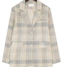 Extended Sleeve Check Boxy Jacket