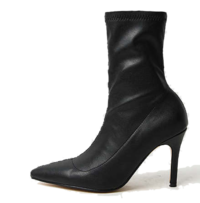 Smooth fit socks ankle boots 9cm